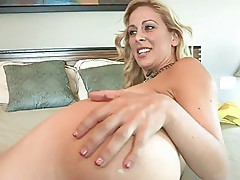 Blonde MILF Enjoying The Anal Strap-On