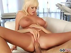 Blonde housewife Phoenix Marie with big tits fucked