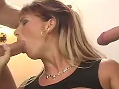 Weenie muncher Sweet Nicky thraoted as vagina gets hammered from behind