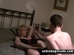 spying my cougar mom with her toyboy