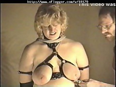 Horny homemade couple enjoying bondage action