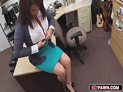 Milf needs money and goes down on her knees to suck my cock