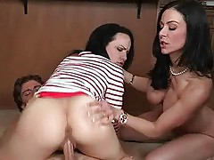 Katie and her busty stepmom Kendra 3way