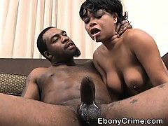 Black Girl With Nice Tits Getting Her Face Fucked Hard