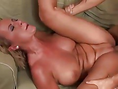 Blonde MILF with hot tits fucked by younger cock