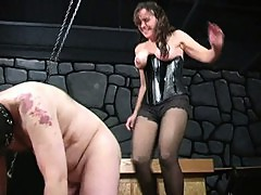 Bizarre milf dominatrix babes extreme cock and balls torture fetish