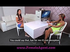 FemaleAgent Multiple orgasms in perfect lesbian casting