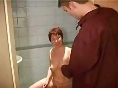 Rehead Busty Mature Masturbating Shaved Pussy