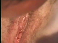 Amateur granny gets jizz on pussy