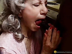 Old woman fucks black guy
