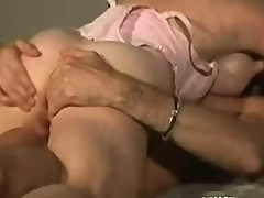 Horny blonde MILF fucked by young hard sons friends cock