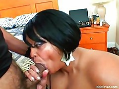 Farax Foxx of BBBFever taking fat cock deeply down her throat