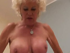 Old granny with hairy clit loves sucking and fucking