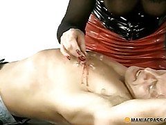 Dripped on the body guy hot wax