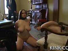 Huge tits submissive housewife gets whipped and spanked