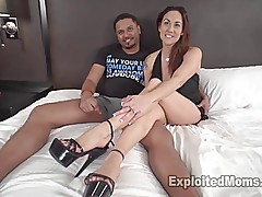 Busty MILF with Big Tits Fucks with Heels On