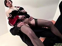 Glamorous british MILF fucked doggystyle