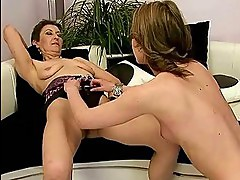 Horny granny loves young beauty