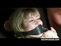 Blonde Milf Bound Spanked And Toyed