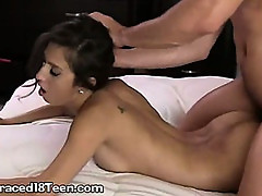 Brave Brunette Taking Monster Cock!!