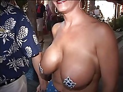 Titties are pinched and ass squeezed in public
