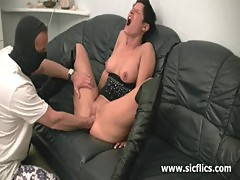 Horny amateur milf fist fucked by the builder