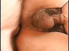 Hollywood whore gets fucked hard by two hard cocks in all her holes outside