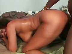 Black dick in her black pussy