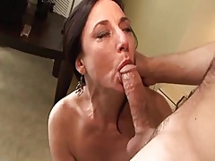 True MILF Karen Kourgar Takes Young Cock