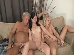 Gal have funtime together nearly her BF\'s mom and dad