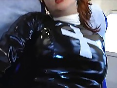 Red UK Pornstar As PVC Nun