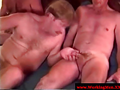 Grandads suck dick in a group setting