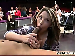 Bachelorette party watching blowjob