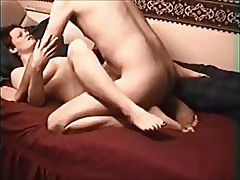 Amateur British chick on real homemade