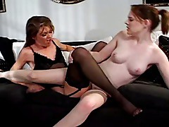Old & Young Lesbians English Teacher Fucks Student