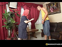 Girl pulls to her man