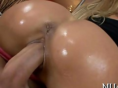 Ass and pussy are drilled clip 2
