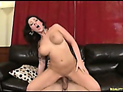 Curvy chick with big tits fucked hard