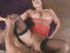 Asian MILF With Huge Tits Talks Dirty And Gets A Facial!