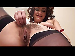 Hairy Pussy Show in Stairs BVR
