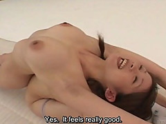 Busty nudist Japanese milf group stretching subtitled