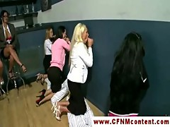 CFNM ladies enjoying gloryhole time