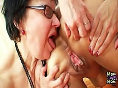 Amateur granny moms kinky lesbian pussy games