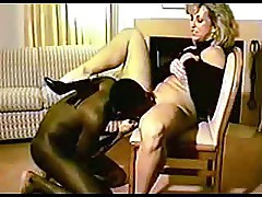 Blonde and black cock