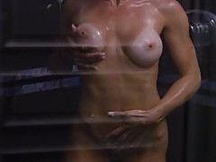 Big ass all soaped up in the shower