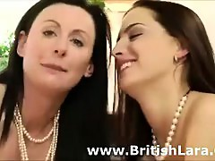 Threesome for mature British lady with young girl