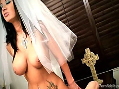 Sexy bride jayden james fucks her priest