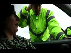 Lara gets pulled over by cop and fingered hard and deep