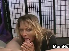 Blonde MILF Plays With A Hard Dick