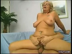 Mature Blonde Bitch Gets Her Pussy Licked And Fucked